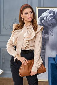 Женская блузка с воланами и бантом на груди (Ардиjd)