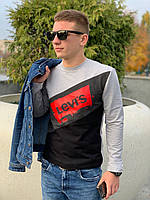 Мужской свитшот LEVI'S (светло серый / черный), фото 1