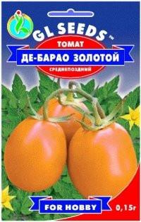 Семена томат Де-барао золотой H=2,5-3 м. до 70-85 г.