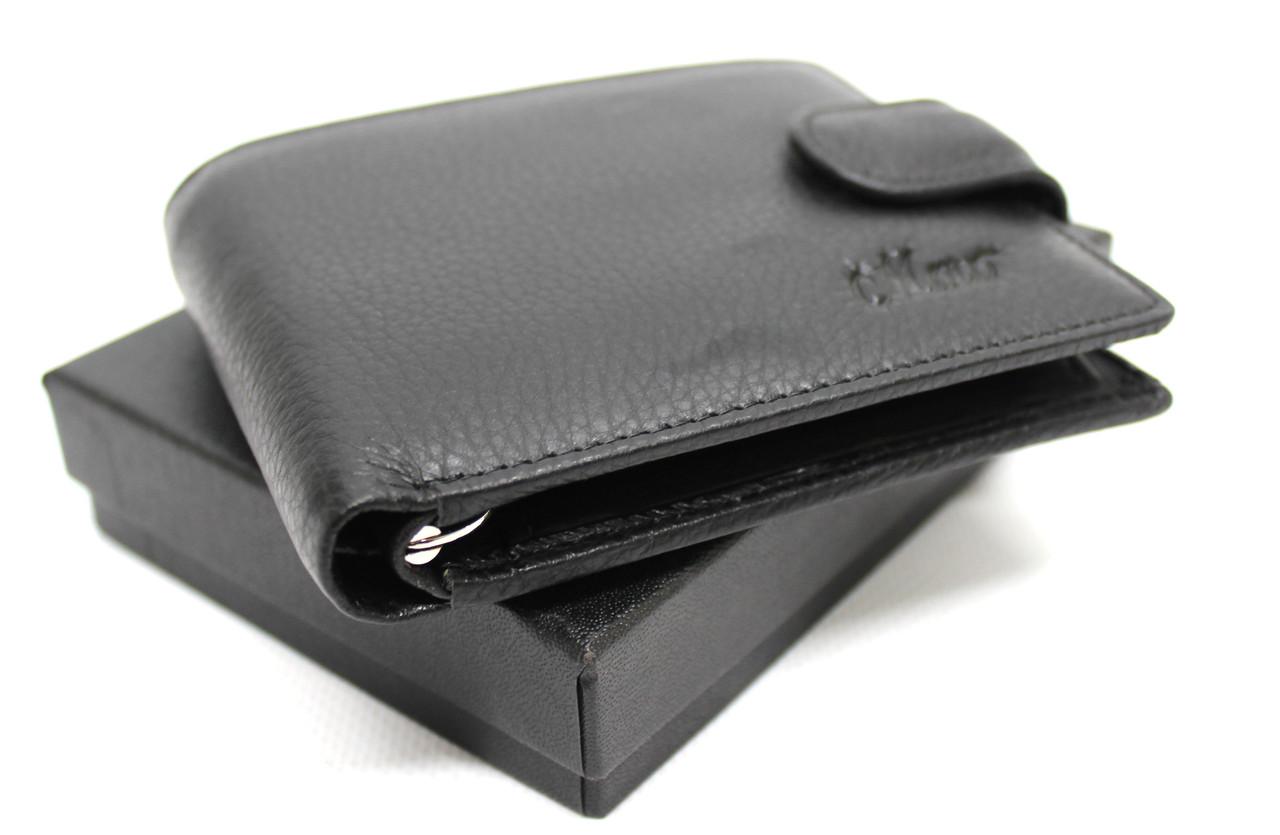 """Кожаный мужской кошелек с зажимом """"Moro"""" YR 208K"""
