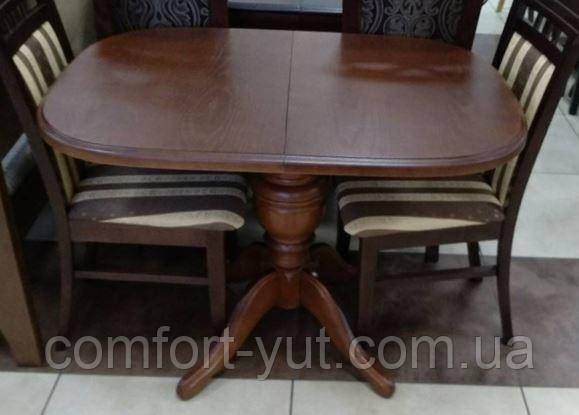 Стол Эмиль обеденный раскладной деревянный 105(+38)*74 венге - фото 9