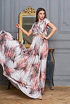 Женское платье в пол с принтом цветов (Нора jd), фото 3