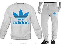 Спортивный костюм мужской серый Adidas Адидас