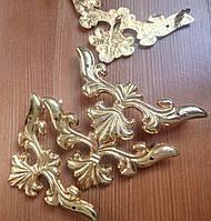Декор угловой золото 60х60х82 мм, фото 1