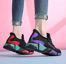 Стильные летние кроссовки с яркими вставками, 36 -40, фото 3