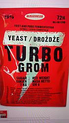 Дрожжи для сахарного сусла  Turbo Grom 72 120 грамм