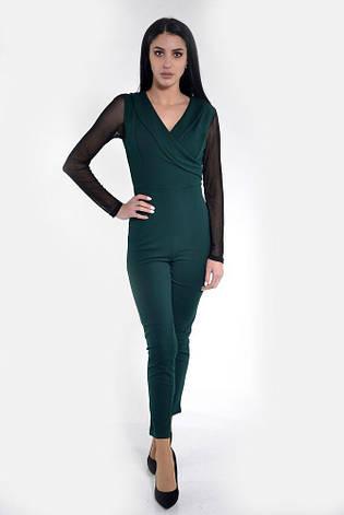 Комбинезон женский 119R177 цвет Темно-зеленый, фото 2