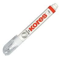 Коректор ручка с металлическим наконечником Kores 10мл K83301 Metal tip