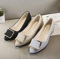 Блестящие туфли балетки для модных девушек 36 - 40