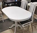 Стол Эмиль Плюс обеденный раскладной деревянный 100(+29)*70 белый, фото 5