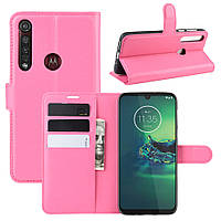 Чехол Luxury для Motorola Moto G8 Plus (XT2019) книжка розовый