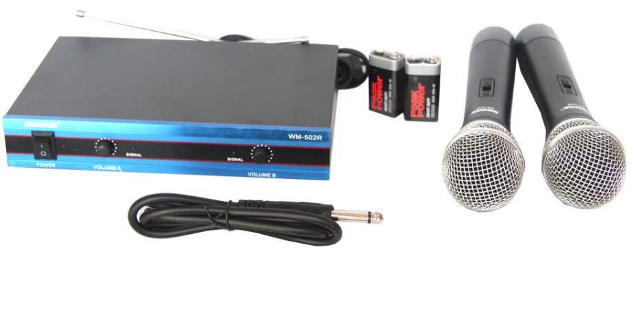 Беспроводной микрофон | Радиомикрофон | Беспроводная радиосистема на два микрофона Shure WM502R