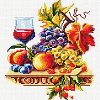 """Набір для алмазної мозаїки 30х30см """"Вино і фрукти"""" DF164"""