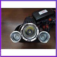 Налобный фонарь Police Bailong Boruit RJ 3000 имеет 3 светодиода: 1х Cree XM-L T6 и 2х Cree Q5.