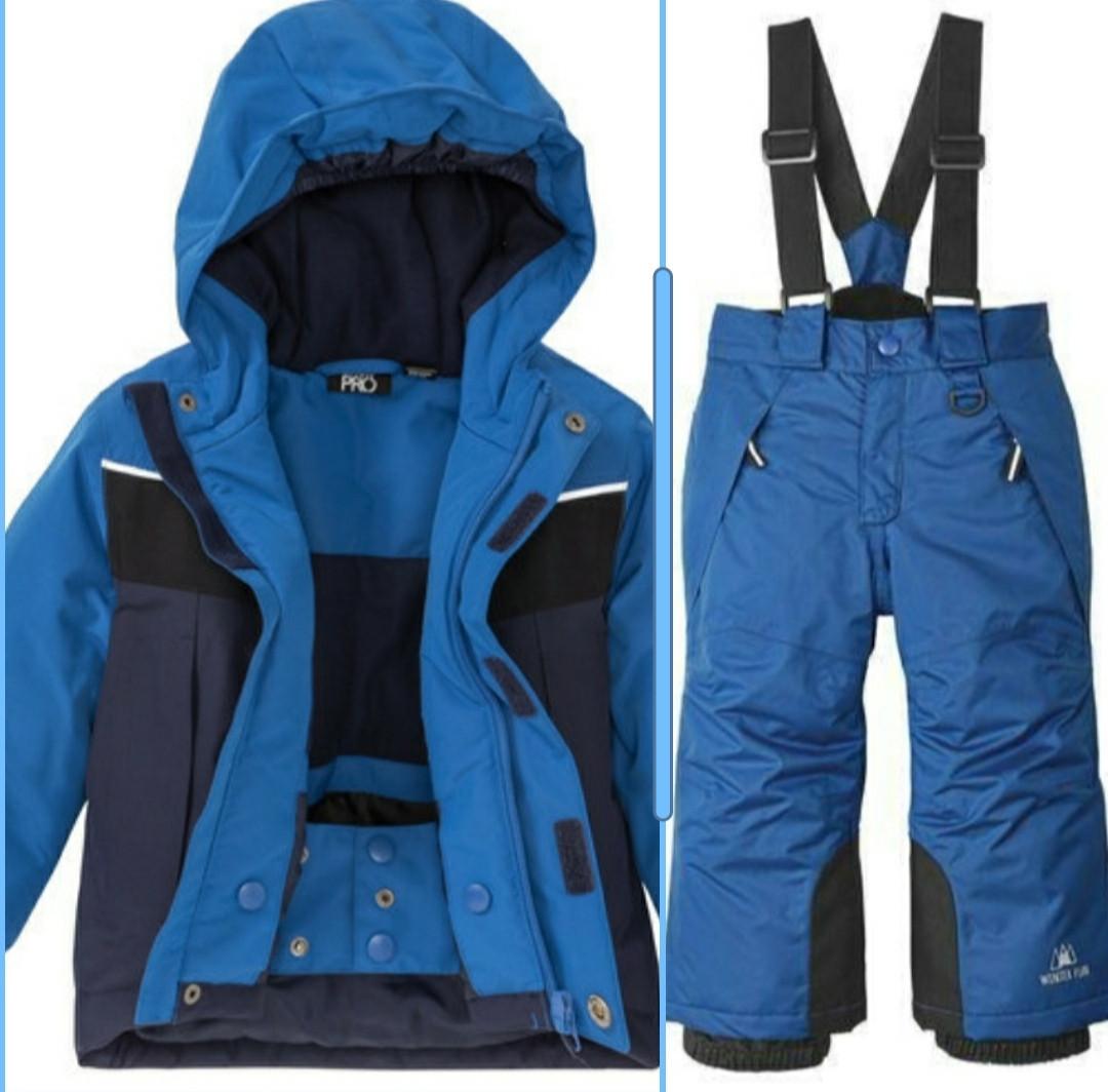 Лыжный термокостюм синяя куртка и синее штаны для мальчика Crivit Pro р.110/116см