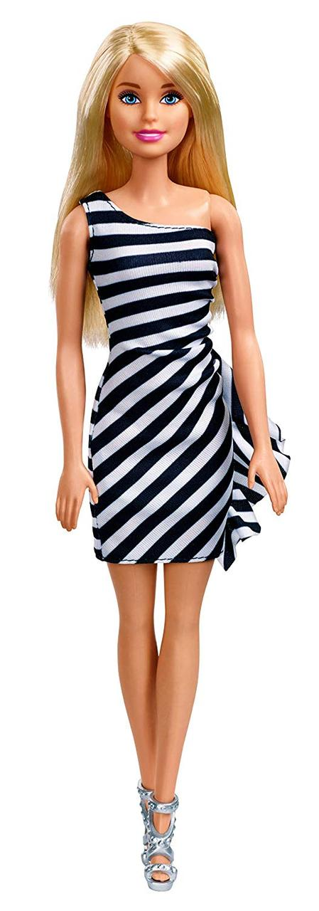 Кукла Барби Блеск (Barbie Glitz Doll, Black & White Stripe Ruffle Dress)