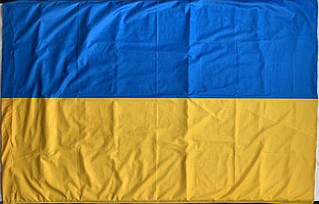 Флаг Украины 1м*1.5м Флажная сетка (Без шва)