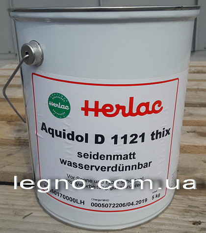 Водный лак Аквидол Д1121 Herlac, Германия - ведро 5 кг
