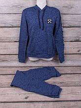 Спортивний костюм з трикотажу ангора-софт начісування (синій)