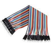 Провода Dupont, кабель Дюпон для Arduino, макетных плат и монтажа. длинна 20 см. 40 шт. папа-папа