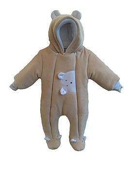 Комбинезон теплый для новорожденных Мишка Lux.Размер: 62-68; 68-74 Цвет: Лате