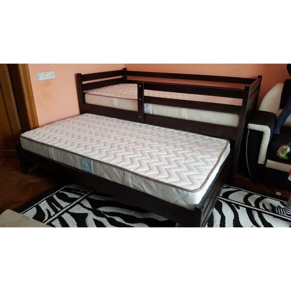 Кровать Симба из массива бука с дополнительным выдвижным спальным местом. ТМ Дримка