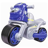 Детский мотоцикл каталка Полиция Big 56312 ролоцикл + накладки на обувь (дитячий мотоцикл)
