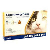 Стронгхолд ПЛЮС 2.5-5 кг протипаразитарний препарат для котів 1 піпетка