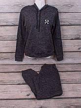 Спортивный костюм из трикотажа ангора-софт начёс (тёмно-серый)
