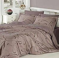 Комплект постельного белья Cotton Satin Calisto Vizon First Choice Евро размер