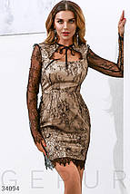 Утонченное кружевное платьеS,M,L,XS, фото 3