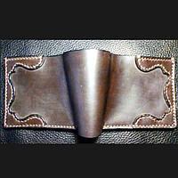 Кожаный мужской кошелек/шкіряний гаманець.Чоловічий гаманець, бумажник, портмоне ручної роботи.