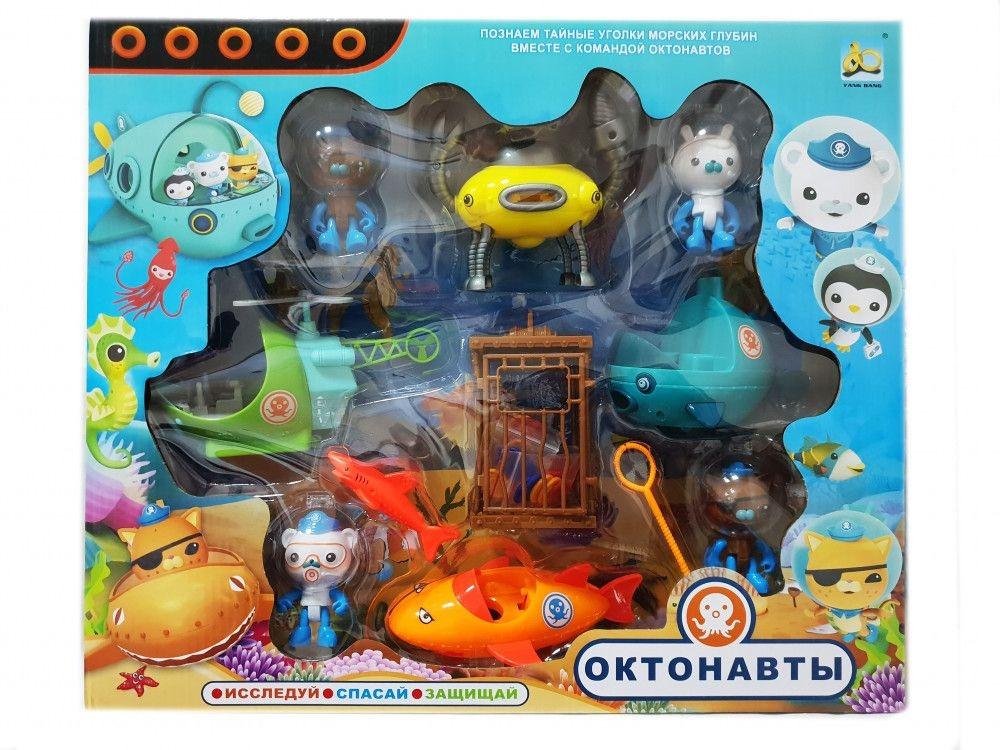 Игровой набор Октонавты: набор из 4 героев октонавтов с транспортом + аксессуары scs