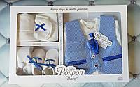 Подарочный набор мальчику Галстук, р. 0-6 месяцев, Турция