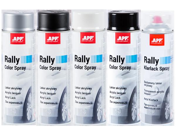 Краска акриловая  APP Rally Color, 500 мл Аэрозоль, Черная матовая