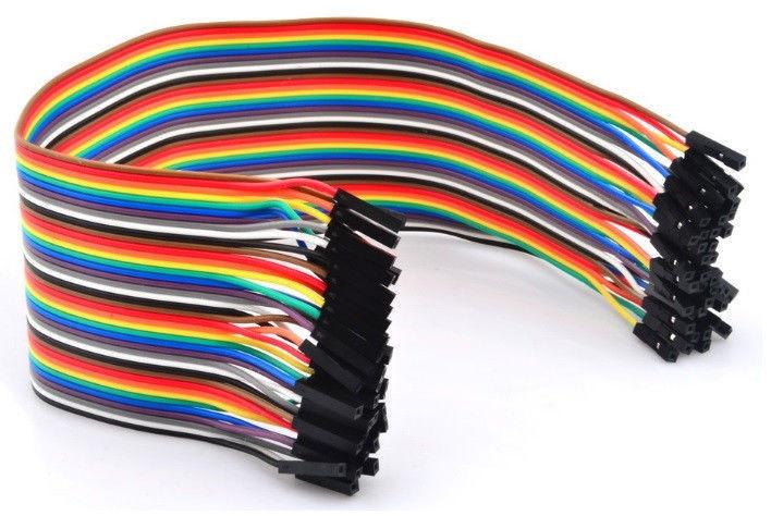 Провода Dupont, кабель Дюпон для Arduino, макетных плат и монтажа. длинна 20 см. 40 шт. мама-мама