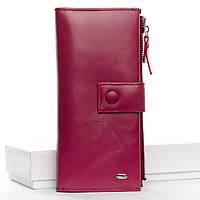 Кошелек Classic кожа DR. BOND  WMB-1  purple-red.Женский кожаный кошелек оптом и в розницу в Украине., фото 1