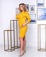 Женское платье замш (46-50) Турция Желтый