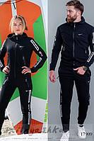 Трикотажные одинаковые черные костюмы, фото 1