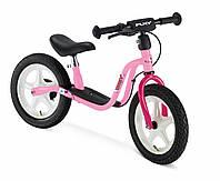 Детский беговел с пневматическими шинами и тормозом Puky LR 1 L Br 4065 Розовый
