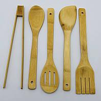 Набір бамбукових приладів для кухні 5 в 1