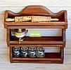 """Полка для специй """"Имбирь"""", дерево, орех, белая, чёрная, бесцветный лак, серый, прованс., фото 2"""