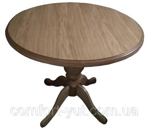 Стол Анжелика обеденный раскладной деревянный 90(+38)*90 натуральный
