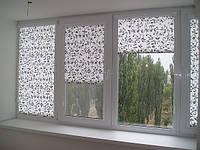 Рулонные шторы Дамаск - Ролета тканевая с цветочным восточным узором серебро, фото 1