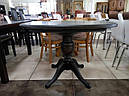 Стол Анжелика обеденный раскладной деревянный 90(+38)*90 натуральный, фото 9