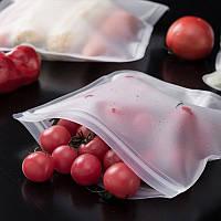 Многоразовый силиконовый пакет для хранения продуктов в холодильнике ( Размер средний )
