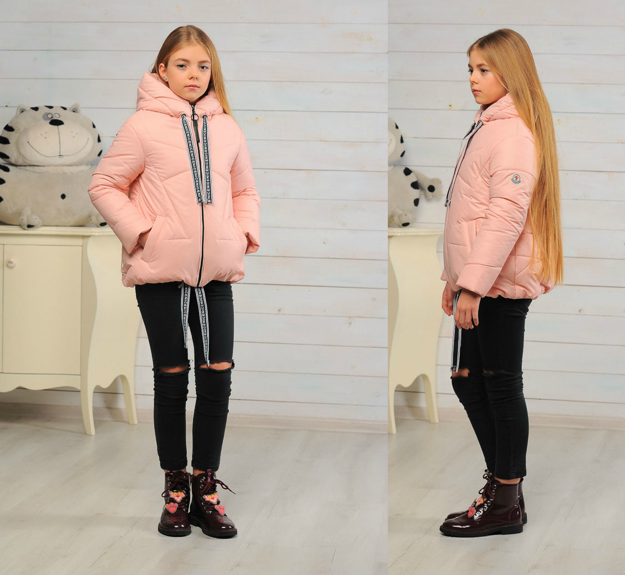 Детская демисезонная куртка для девочки размер 128-140