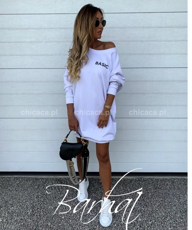 Платье-туника Basic с открытым плечом