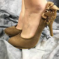 Жіночі туфлі CAMENGSI DO16-1 коричневі 35
