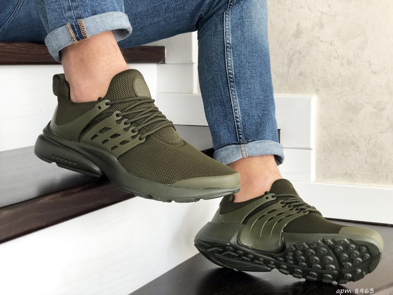 Мужские кроссовки Presto (темно-зеленые) 8963
